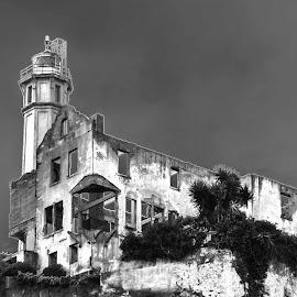 The Wardens Home by Craig Turner - Buildings & Architecture Public & Historical ( alcatraz, b&w, california, san francisco, solarized )
