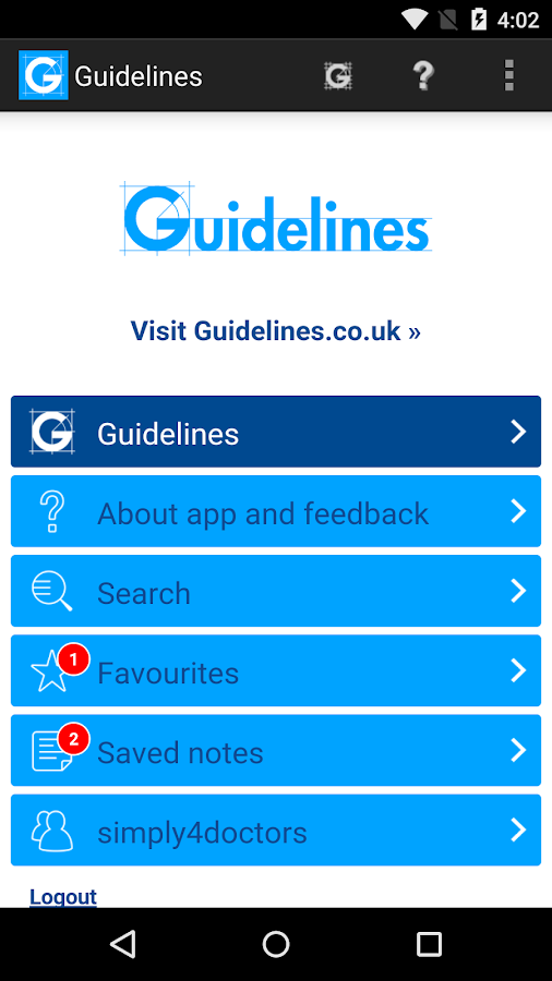 Guidelines Screenshot 0