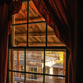 Nevada City Hotel Window 3556 by Twin Wranglers Baker - Buildings & Architecture Public & Historical (  )