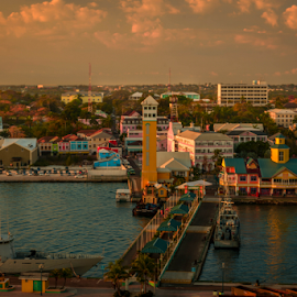 Nasau City by Joseph Law - City,  Street & Park  Neighborhoods ( boats, neighborhood, buildings, reflections, nasau, bahamas )
