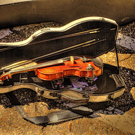 Cajun Music by Ron Olivier - Digital Art Things ( violin, acadian, cajun music )