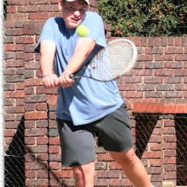 Backhand by Danie Minnaar - Sports & Fitness Tennis ( fitness, sports, back hand, tennis, young man, people )