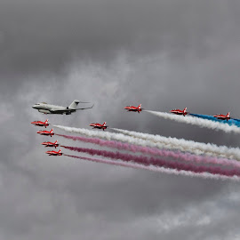 Red Arrows and Sentinel  by Tristan Wright - Transportation Airplanes (  )
