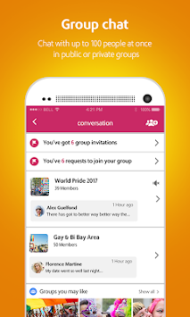 Moovz- The LGBT Social Network APK screenshot thumbnail 2
