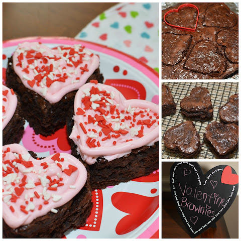 Valentine Fudge Brownies