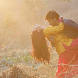 Eternal Love by Kshitij Bhaswar - Wedding Bride & Groom ( canon, kshitij, wedding photography, kshitij bhaswar, wedding, wedding photographer, canon eos, canon 5dmkiii )