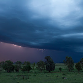 Down came the rain. by Gavin Smith - Landscapes Cloud Formations ( clouds, lightning, nature, landscape, rain )