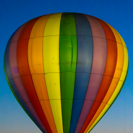 Balloon Glow by Dave Dabour - Transportation Other ( warren county farmers fair, summer, night time, glow, balloon, friday, hot air balloons )