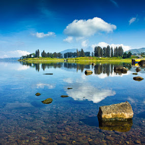 Twins Lake by Fredy Hariyetno Full - Landscapes Waterscapes