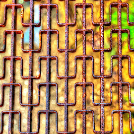 Landing by Michael Wolfe - Abstract Patterns ( patterns, iron paterns, iron step, rust, iron,  )