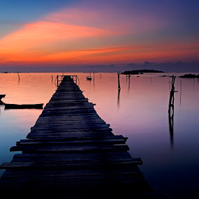 Evening Bridge by Jeffry Surianto - Landscapes Waterscapes
