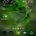Green Flame GO theme APK for Blackberry