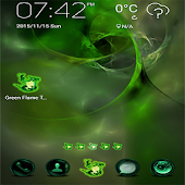 App Green Flame GO theme APK for Kindle