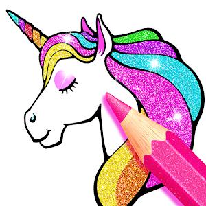 Rainbow Glitter Coloring Book - Unicorn Artist For PC / Windows 7/8/10 / Mac – Free Download