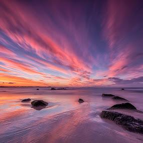 Kirra Sunset by Steve Badger - Landscapes Sunsets & Sunrises ( queensland, sunset, australia, kirra, colours,  )