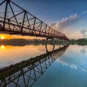 Lor Halus Metal Bridge by Lb Chong Jacobs - Buildings & Architecture Bridges & Suspended Structures