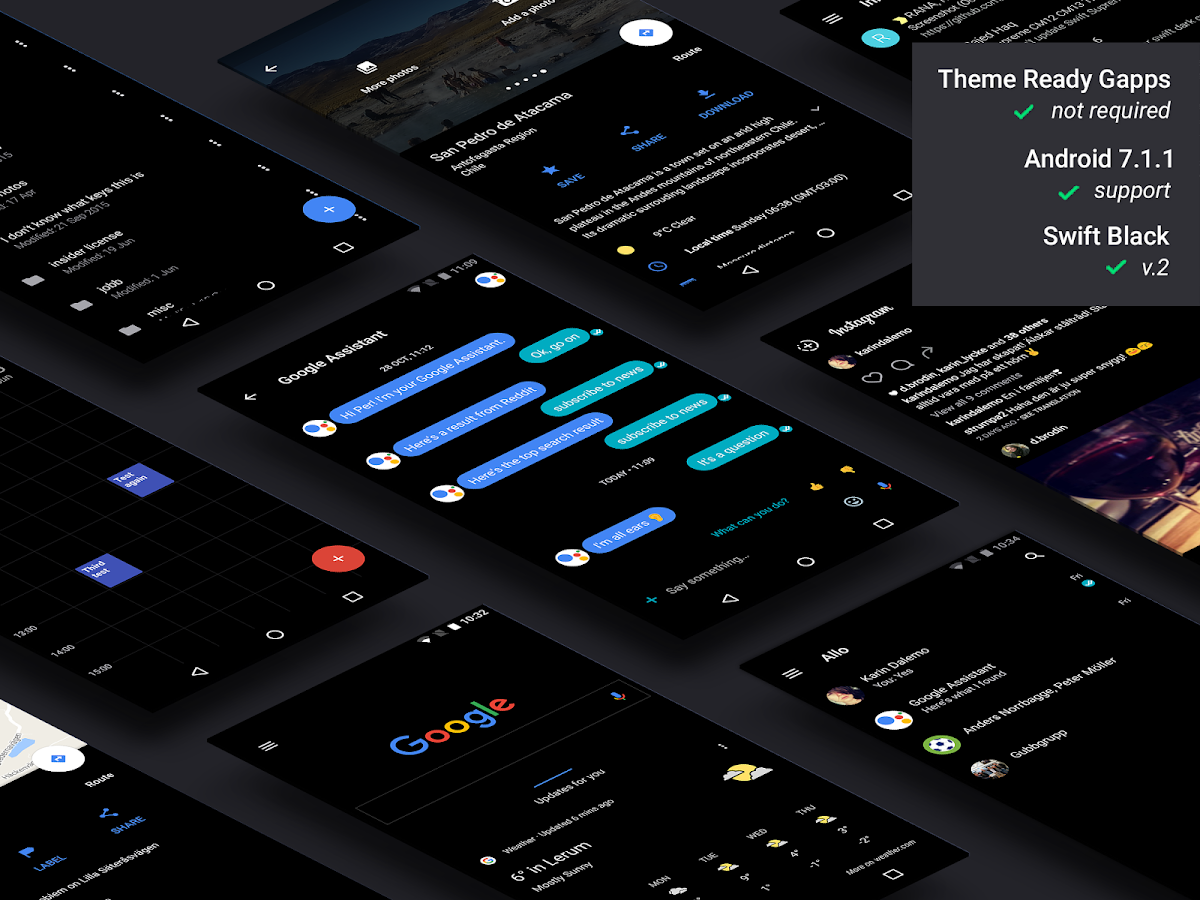 Swift Black Substratum Theme Screenshot 0