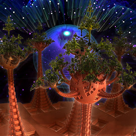 The Enchanted Forest by Rick Eskridge - Illustration Sci Fi & Fantasy ( fantasy, jwildfire, mb3d, fractal, twisted brush )