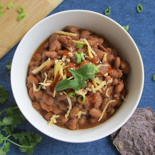 Southwest Ranch Style Beans (Crock Pot Pinto Beans Recipe)