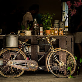 bicycle by Varok Saurfang - Transportation Bicycles ( old, vintage, wheels, rusty, rust, bicycle )