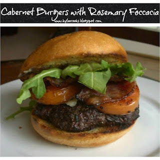 CABERNET BURGERS WITH ROSEMARY FOCCACIA