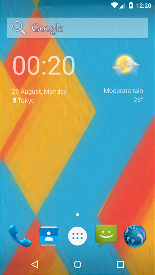 Animated Weather Widget&Clock Screenshot 2