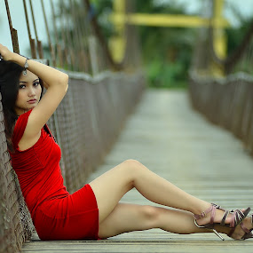 Lady Red by Adithya Perdana Putra - People Fashion
