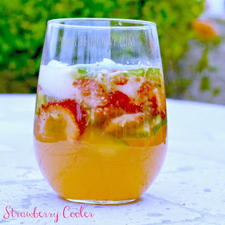 Summertime Mocktail | Strawberry Cooler {Recipe}