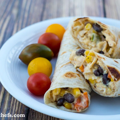 Easy Chicken Burritos