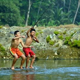 Fishing by Sigit Purnomo - Babies & Children Children Candids