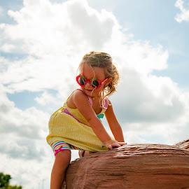 Climbing at the Park  by Kellie Jones - Babies & Children Children Candids