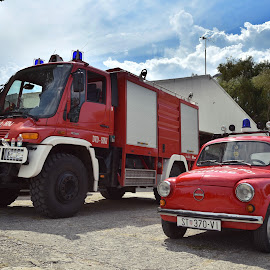 Goliath & David ;) by Boris Romac - Transportation Other ( unit, d750, dvd, croatia, coguar, sinj, nikon, sinj. aeromeeting )