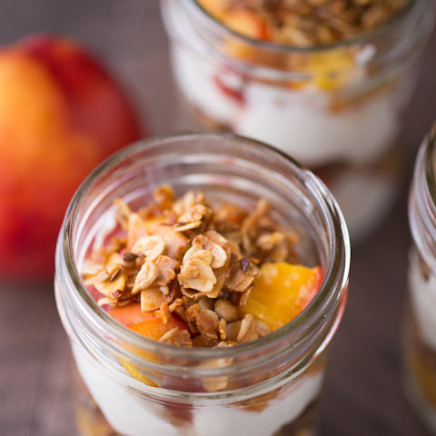 Roasted Nectarine Greek Yogurt Parfaits
