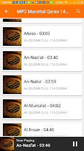 MP3 Quran Murottal 144 Surah - screenshot