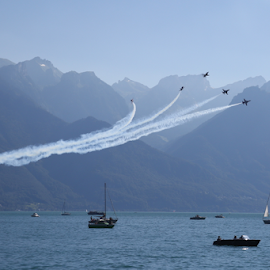 Air Show by Michael Schwartz - Transportation Airplanes (  )