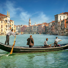 Venice by Nick Moulds - City,  Street & Park  Historic Districts ( gondola, grand canal, venice, traghetto )