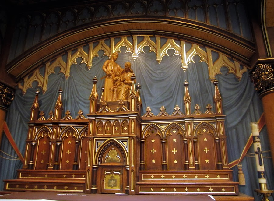 Holy Family Altar by Carl VanderWouden - Buildings & Architecture Places of Worship ( road trip, canada, montreal, basilica, notre dame, quebec )