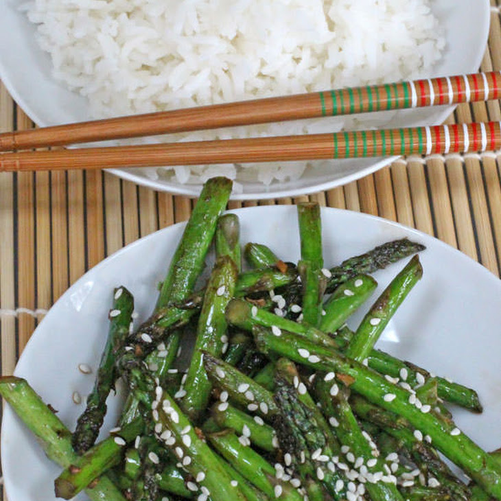 Stir-Fried Asparagus with Ginger and Sesame Recipe | Yummly