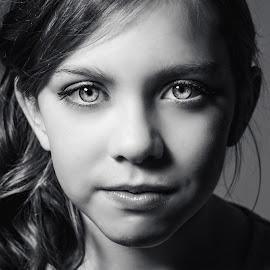 Winning image by Vix Paine - Babies & Children Child Portraits ( blackandwhite, headshot, beauty, shadows, eyes )