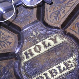 Holy Bible by Bill Givens - Novices Only Objects & Still Life ( glasses, bible, old, book, amateur, artistic object )