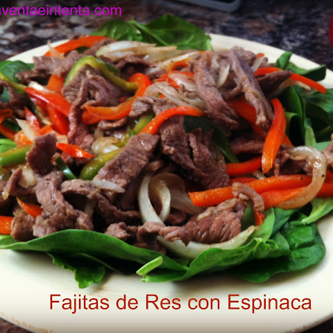 Beef Fajitas with Spinach