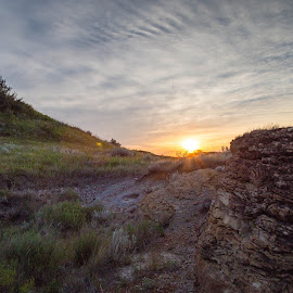 Sinking Sun by Laura Gardner - Novices Only Landscapes ( god's country, nature, nd, sunset, outdoors, prairie )
