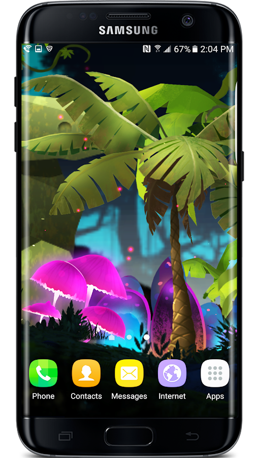 Mushroom Firefly Jungle LWP Screenshot 4