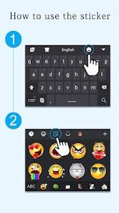 GO Keyboard Sticker Emoticon APK for Bluestacks