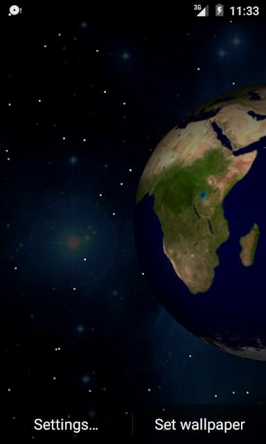 3D Planets Live Wallpaper screenshots