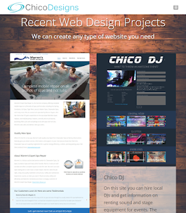 Chico Website Design Screenshot