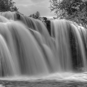 Falls at the mill by Chris Pepper - Landscapes Waterscapes