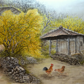 Barnyard by Myong Dutton - Painting All Painting