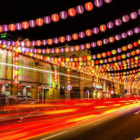 Lantern Festival by Maskun Ramli - News & Events Entertainment ( lantern, light trail, event, festival, china town )