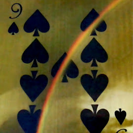 Playing Card 5 by RMC Rochester - Digital Art Things ( abstract, macro, colors, art, random, card, object )